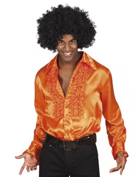 70er Jahre Kleidung Ruschenhemd Herren Orange Bestes Weihnachtsgeschenk