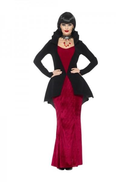 Kostüm Deluxe Vampiress, rot/schwarz
