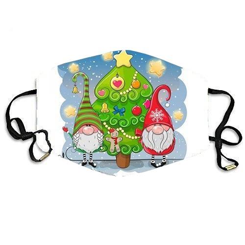 Stoffmaske Wichtelmännchen mit Weihnachtsbaum, ohne Filter