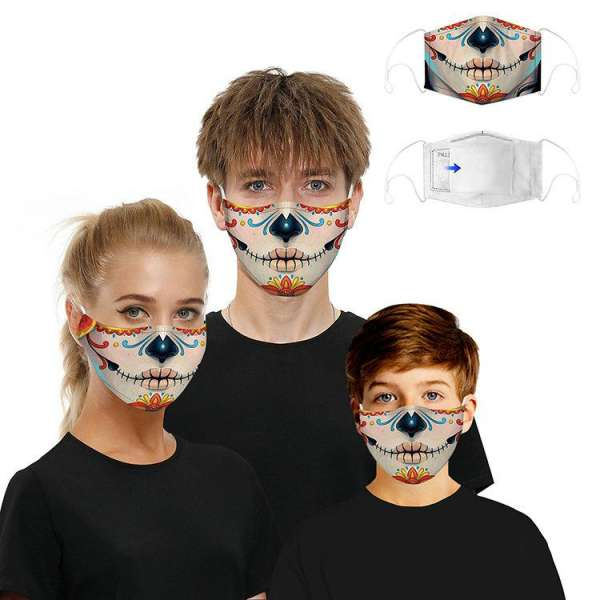 Stoffmaske Day of the Dead Sweetheart mit Filter