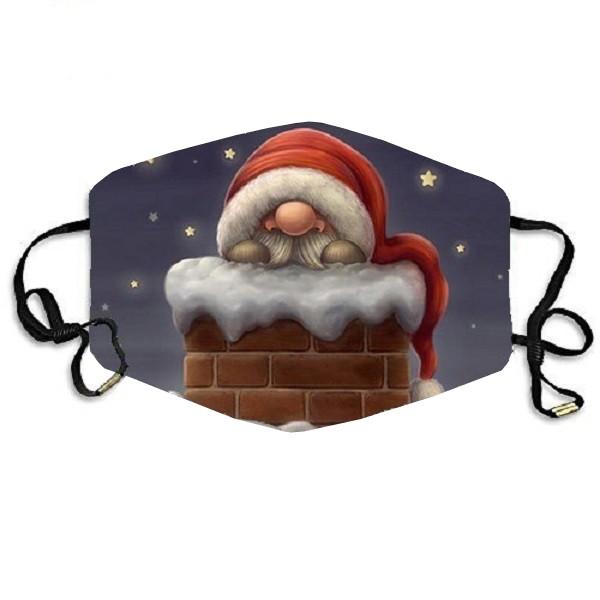 Stoffmaske Nikolaus im Kamin, ohne Filter