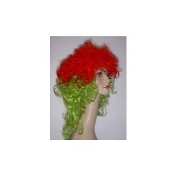 Party-Perücke Lisa grün/rot