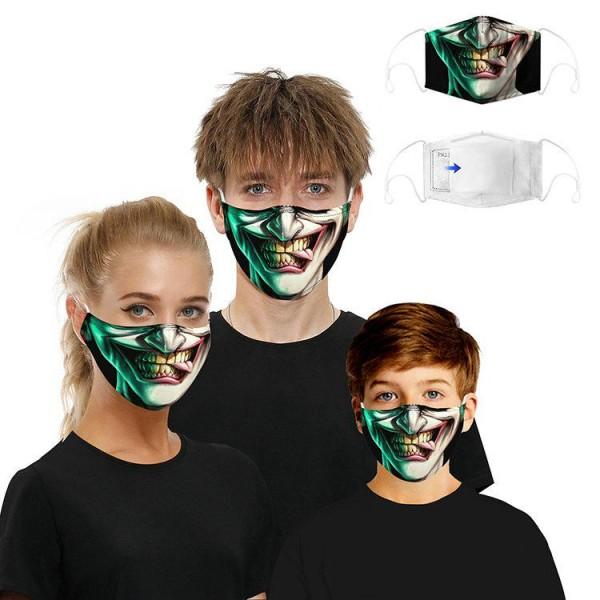 Stoffmaske Crazy Jokerface mit Filter