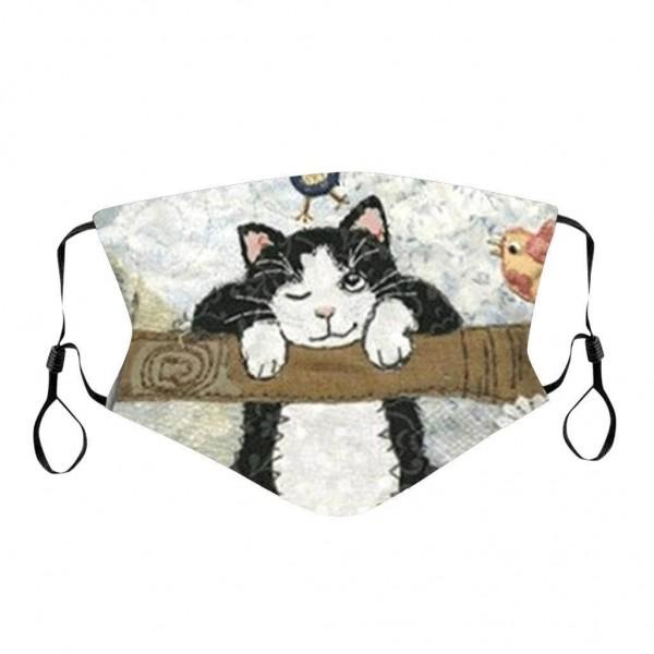 Stoffmaske Katze auf Ast, mit Filter