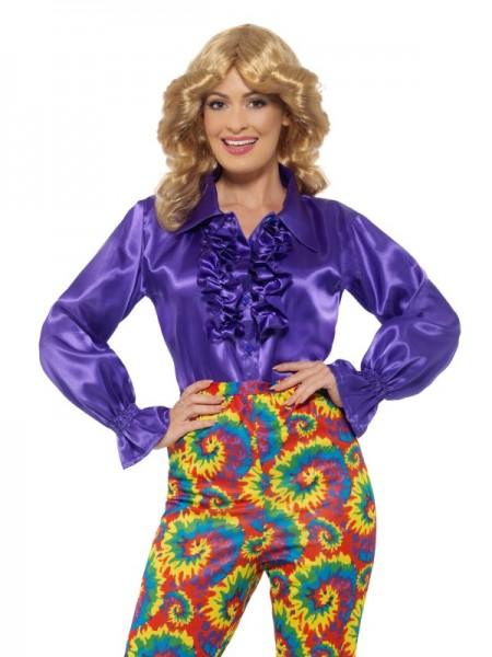 Rüschenhemd für Damen, violett