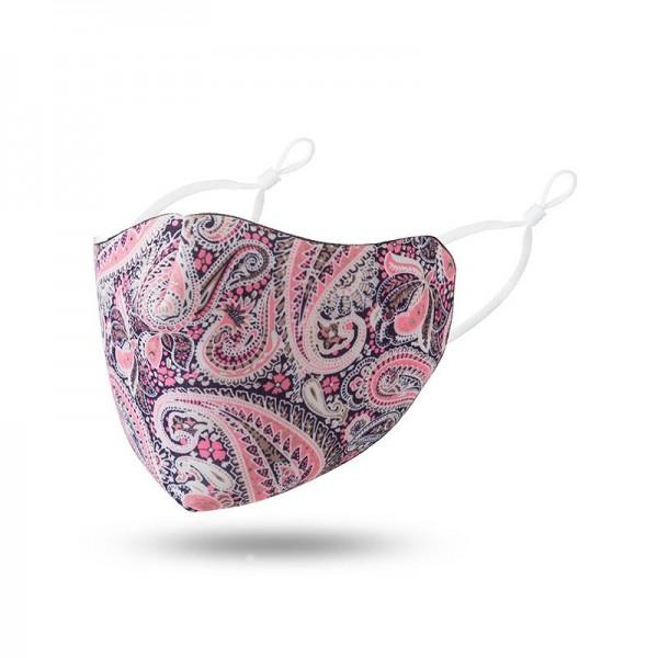 Stoffmaske Paisleymuster pink ohne Filter