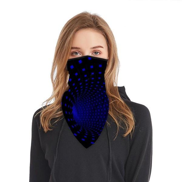 Schlauchmaske aus Stoff mit 3D Motiv, Farbe schwarz-blau, ohne Filter