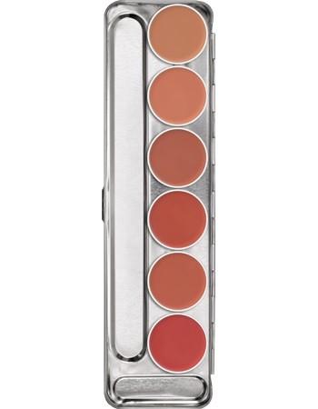 Kryolan Lippenrouge 6er Palette Standard