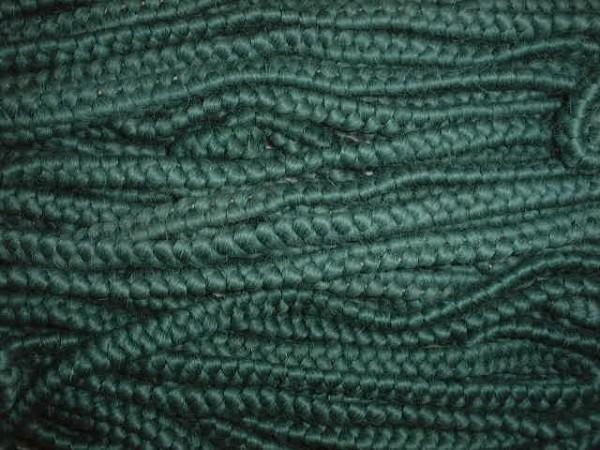 Wollkrepp grün