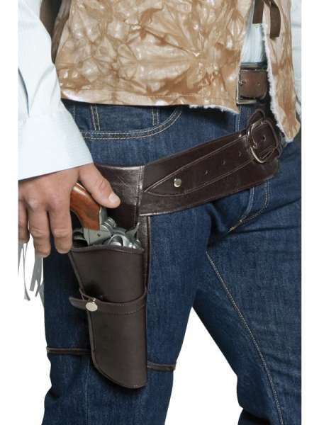 Pistolengurt für Erwachsene mit 1 Holster und Beinriemen