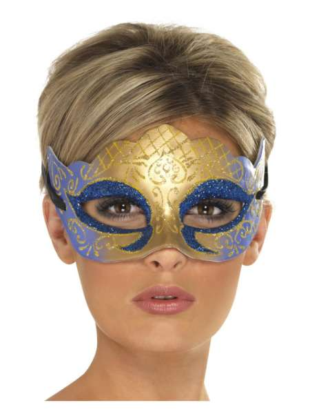 Venezianische Glittermaske, lila/blau/gold