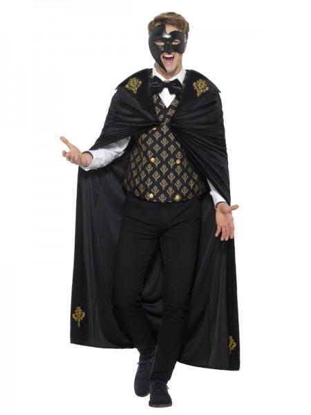 Deluxe Phantom Kostüm, schwarz und gold