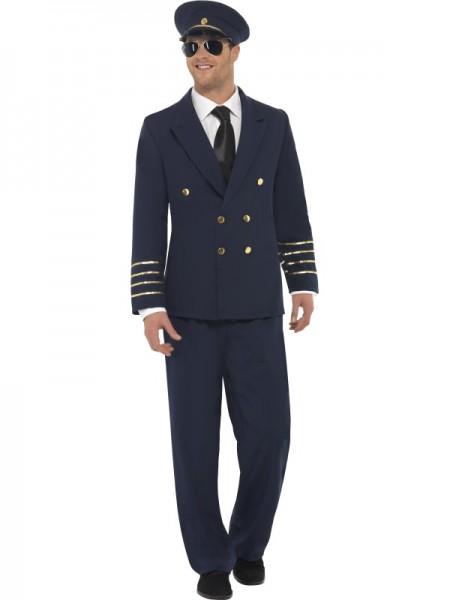 Piloten Kostüm, blau