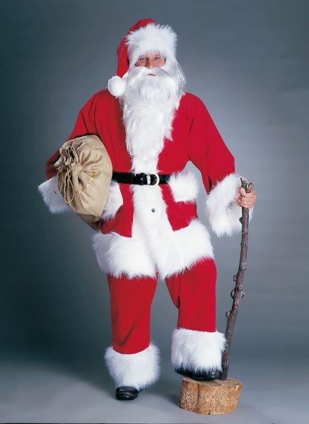weihnachtsmann kord kost m mit hose jacke gurt und m tze. Black Bedroom Furniture Sets. Home Design Ideas