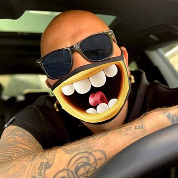 Stoffmaske Riesen Smile mit Filter