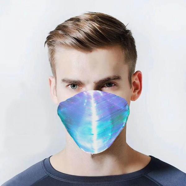 Stoffmaske abgerundet weiss mit LED Beleuchtung