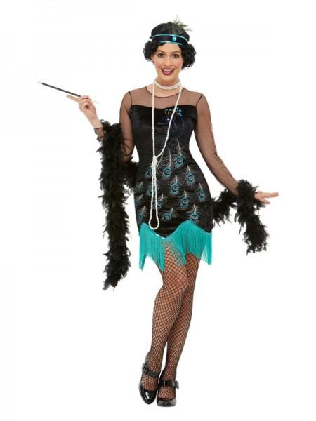20er Jahre Pfauen Flapper Kostüm