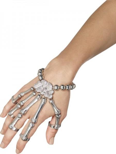 Skeletthand Armband, für Erwachsene