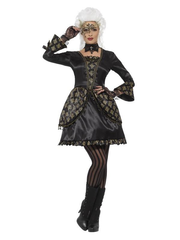 aa76a36ec348fa Deluxe Masquerade Kostüm, schwarz und gold | atop ag