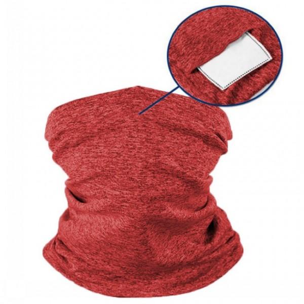 Schlauchmaske aus Stoff, Farbe rot, mit Filter