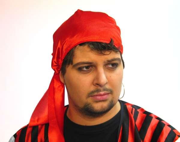 Piraten-Kopftuch, rot