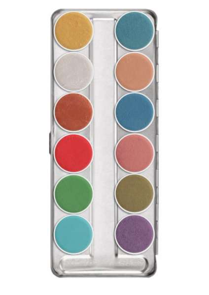 Kryolan Aquacolor Interferenz 12er Palette
