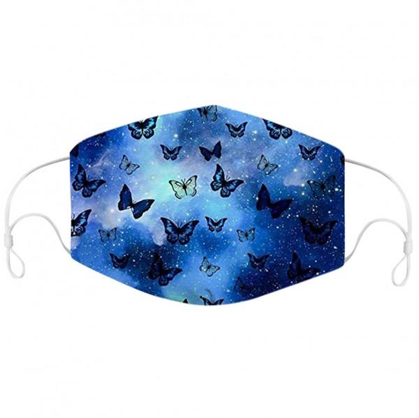 Stoffmaske Schmetterlinge in der Nacht, mit Filter