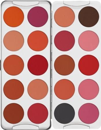 Kryolan Wangenrouge 20er Palette mit Puderfarben