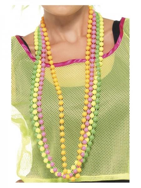 80er Perlenkette, fluoreszierend