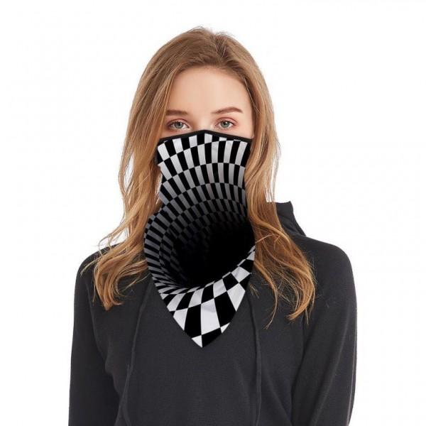 Schlauchmaske aus Stoff mit 3D schwarzes Loch, Farbe schwarz-weiss, ohne Filter