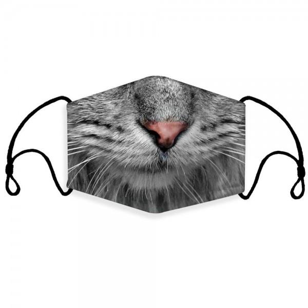 Stoffmaske Katzenschnauze mit Filter