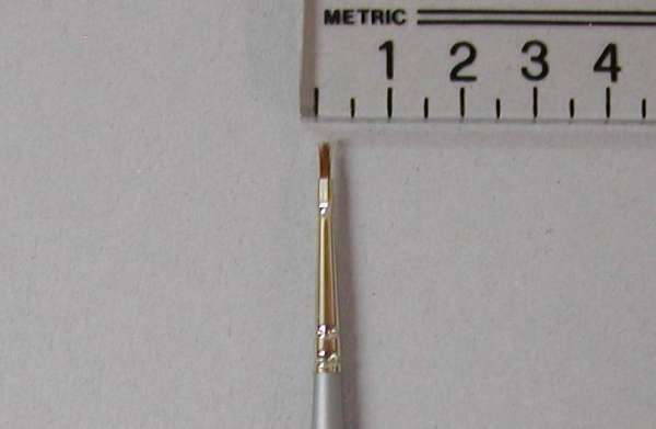 Kryolan Schminkpinsel, breit, pure sable, Nr. 2