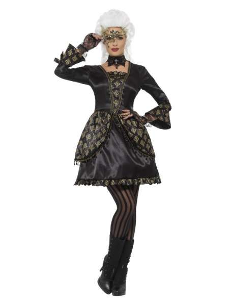 Deluxe Masquerade Kostüm, schwarz und gold