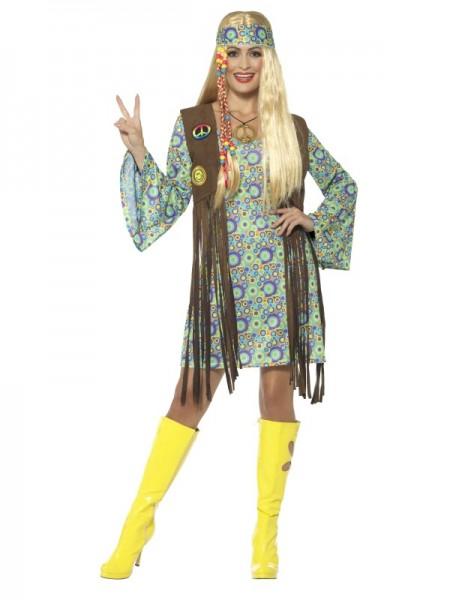 60er Jahre Hippie Chick Kostüm