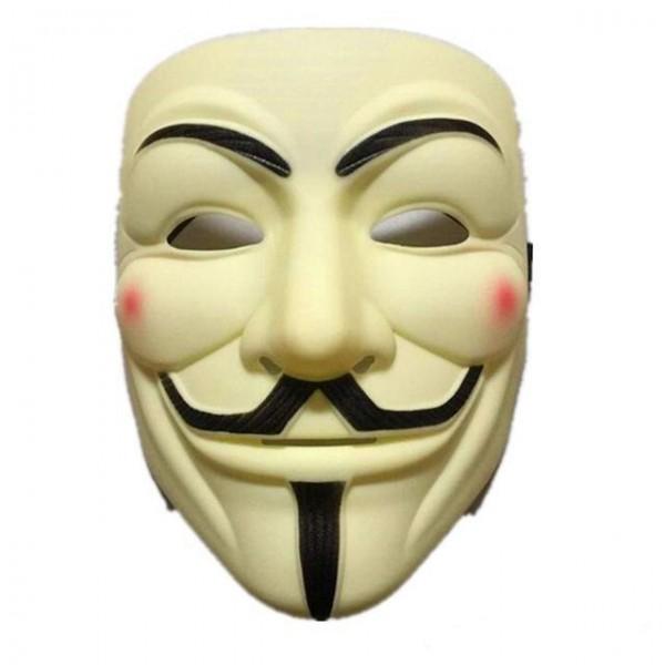 Maske V vergilbter Antiklook