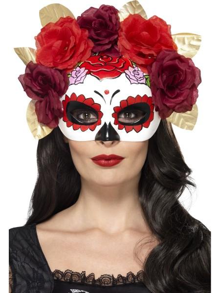 Day of the Dead Maske mit Rosen