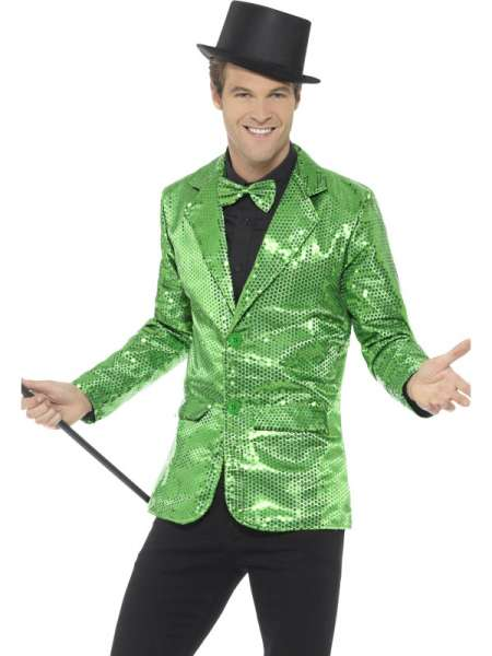 Pailletten Jacke, grün