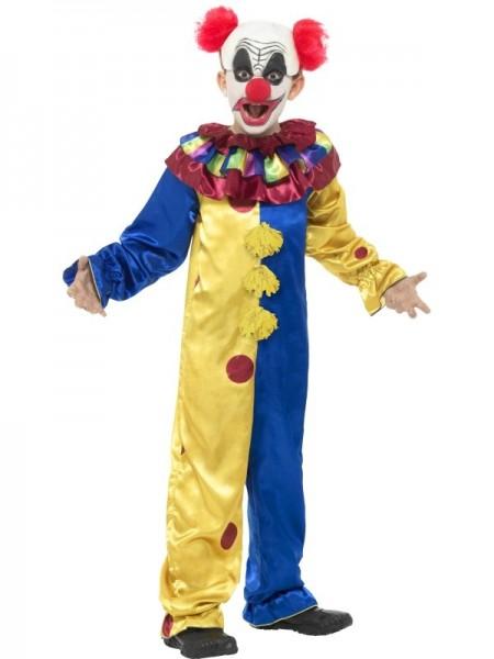 Kinderkostüm Clownoverall mit Glatzenperücke
