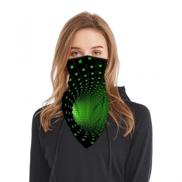 Schlauchmaske aus Stoff mit 3D Motiv, Farbe schwarz-grün, ohne Filter