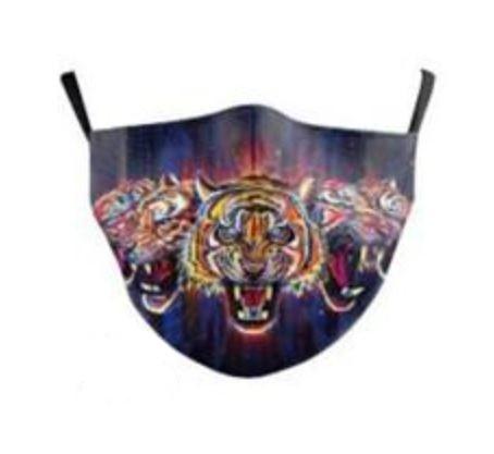 Stoffmaske mystische Tiger, mit Filter