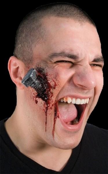 Gummiteil blutiger Bolzen