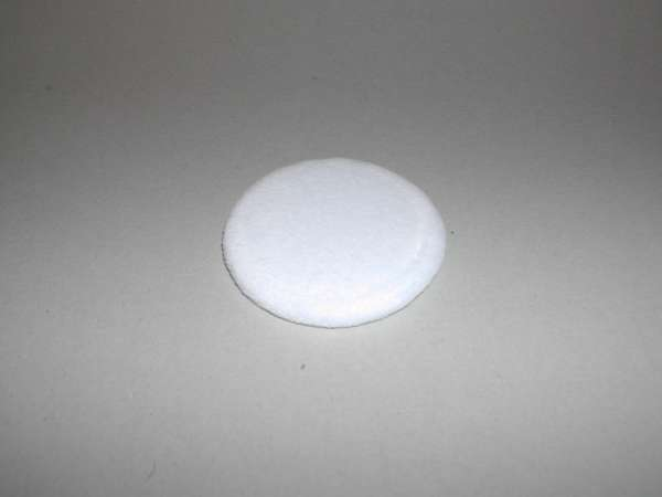 Kryolan Puderquaste aus Veloursamt, 6 cm