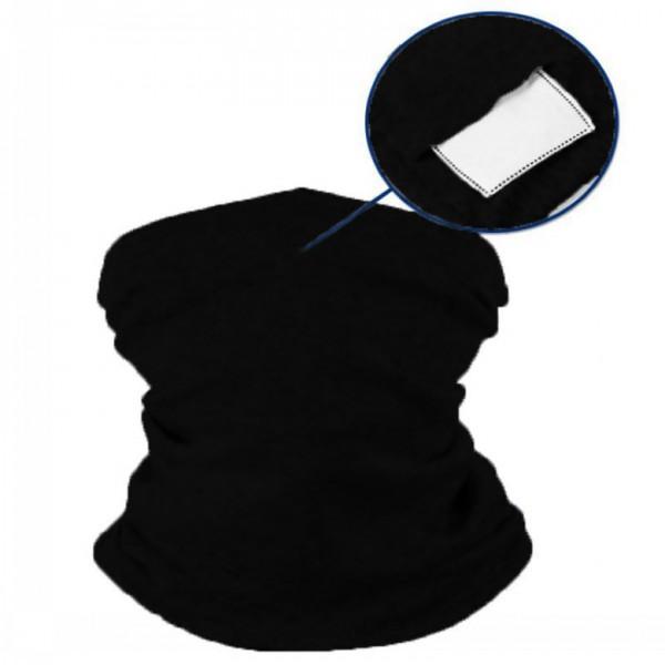Schlauchmaske aus Stoff, Farbe schwarz, mit Filter