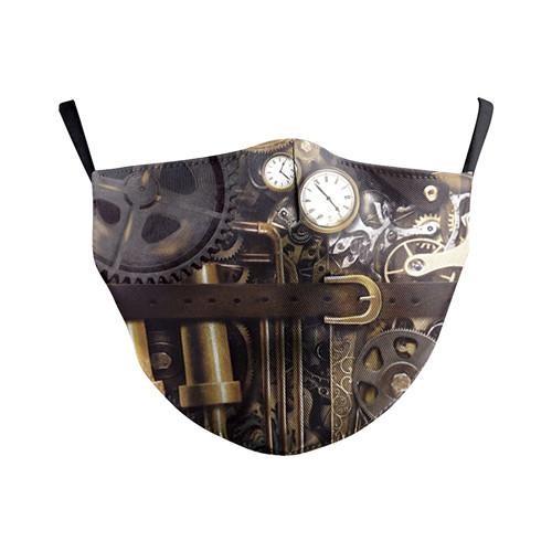 Stoffmaske Steampunk Technologie mit Filter