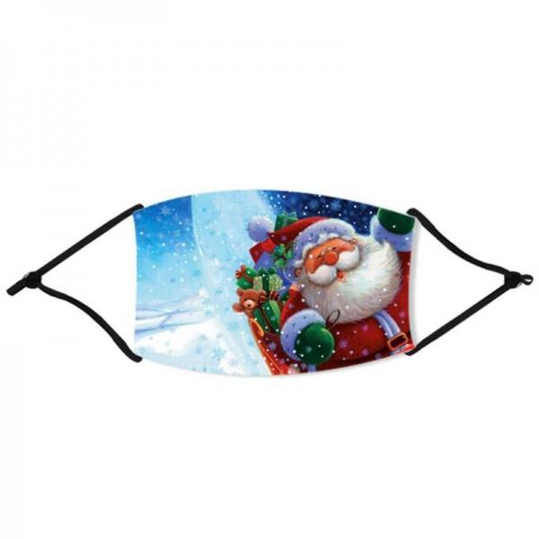 Stoffmaske Nikolaus startet am Nordpol, mit Filter