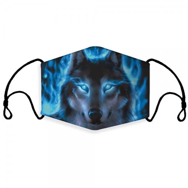 Stoffmaske Blue Wolf mit Filter