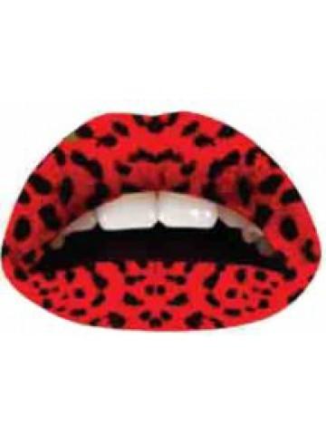 Lips Sticker Motiv rot mt schwarzen Punkten
