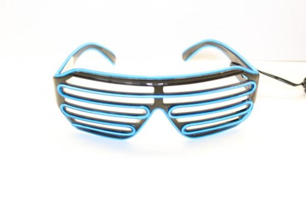 LED Brille, blau