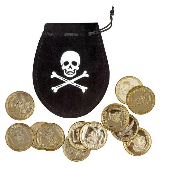 Münzbeutel mit 12 Goldmünzen