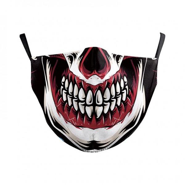 Stoffmaske Bloody Skull mit Filter